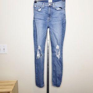Hudson Barbara High Waist Ankle Skinny Jeans